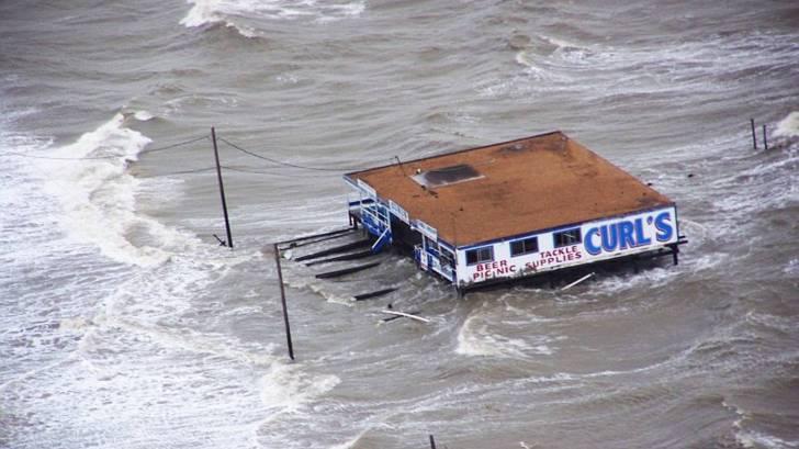 beach house during a hurricane