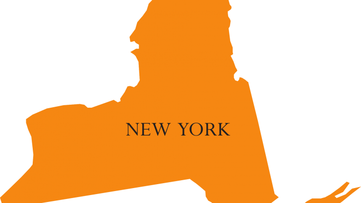 map of the state of NY