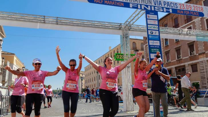 breast cancer survivors ending a race