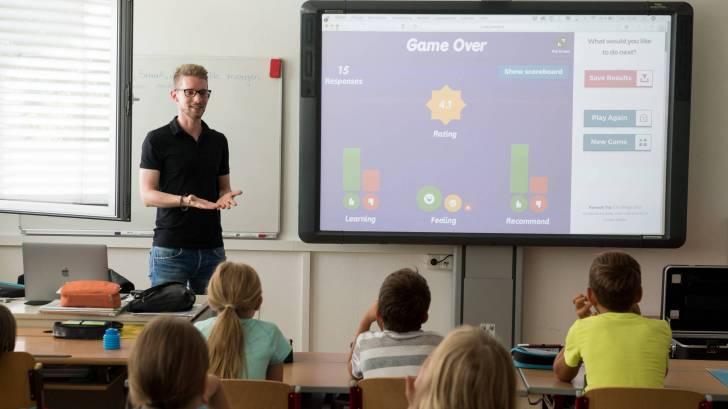 school teacher in classroom