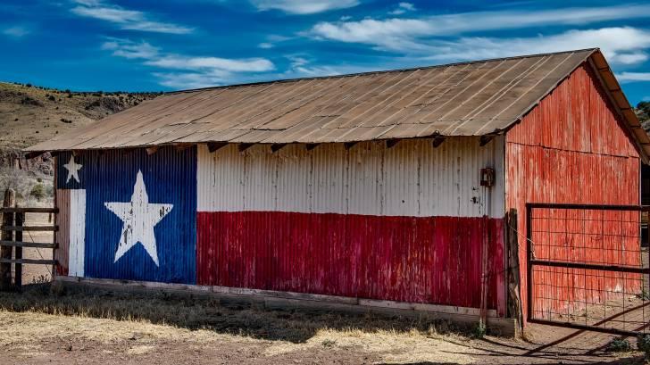 texas lone star on a barn
