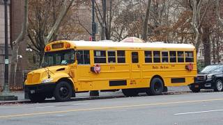 nyc school bus near central park