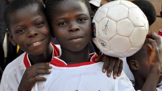 young black soccer players