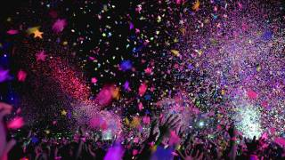 confetti celebrating the funding