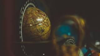 globe showing the globe of africa