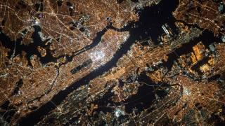 photo of NYC and area from the Space shuttle