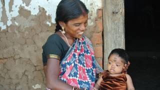 indian mom and infant