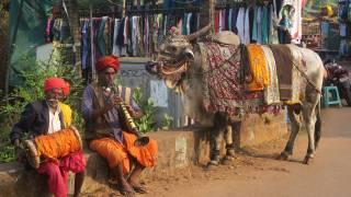 older indian men sitting at a local market