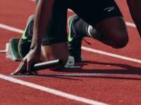 sprinter at the starting line