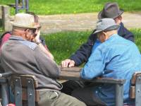 old men playing cards