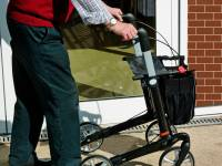 older man with his walker
